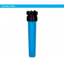 """20"""" Синий корпус(Big Flow) + черная крышка с кнопкой сброса давления."""